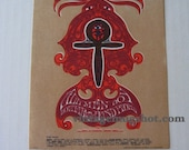 Avalon Ballroom Concert Postcard FD D8  Psychedelic DENVER Egyptian Art