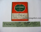 FRENCH BOOK La Ferme  Exc 1950s Original Farm Animals Y.S. Baume