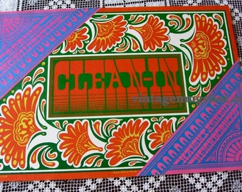 Summer Of Love Original Voctor Moscoso 1967 Neon Rose Poster Fillmore era CLEAN-IN NR 15 Haight Ashbury