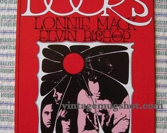 DOORS 1969  Original Pychedelic Concert Postcard Handbill BG 186 FILLMORE  Mint Exc