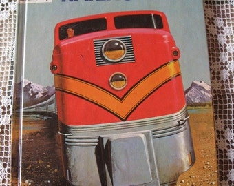Railroads How and Why Book hardcover 1964 Trains Wonder Book
