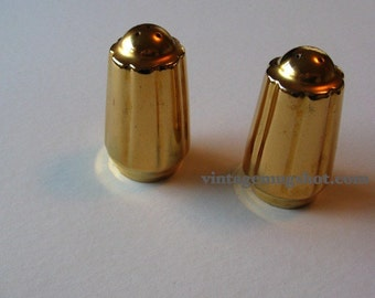 Gold Lustre Salt and Pepper Shakers Exquisite