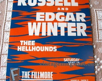 Fillmore Poster Leon Russell Edgar Winter 1988 Blues