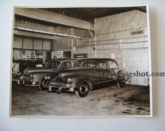 Vintage Buick 40's photograph Exc. 8 x 10