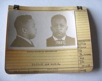 1937 Allegheney County Pa Police Criminal  MUG SHOT Wanted Man 19 Yr old