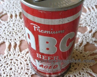 Sealed Unused ABC Premium Beverage Collectible Beer Promo Can