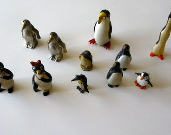 Vintage  PENGUIN Collection lot of 11 Exc Very Cool Millie etc. Salt and Pepper Toy