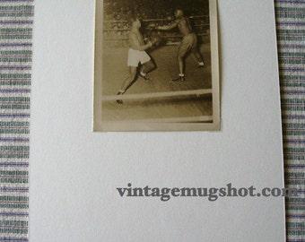 "Vintage BOXING PHOTO World War ll 4"" X 5"" Original"