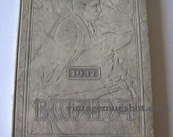 BWANA Vintage Roosevelt High School Yearbook 1937 Exc St. Louis Missouri