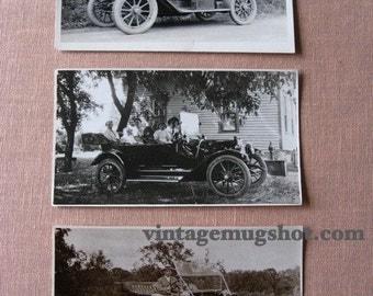 Vintage AUTOMOBILE photograph   approx 3 x 5 1/4  Original RPPC Postcard