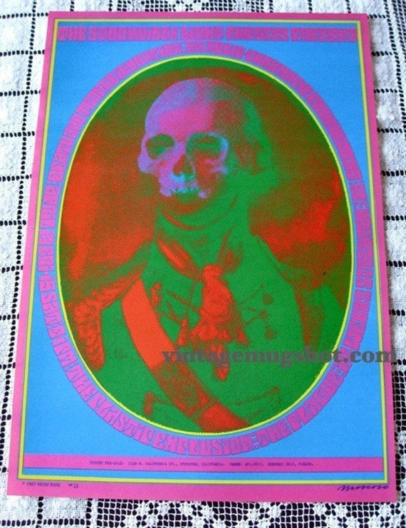 ORIG 60'S MOSCOSO CONCERT POSTER NEON ROSE NR 13 A