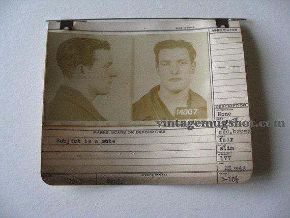 1943 Allegheney Count Pa Police Criminal  MUG SHOT Polish Mute