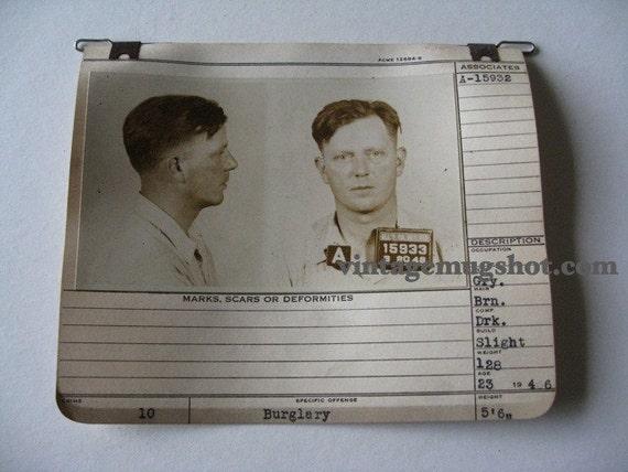 1946 Allegheney County Pa Police Criminal  MUG SHOT Universal Penn