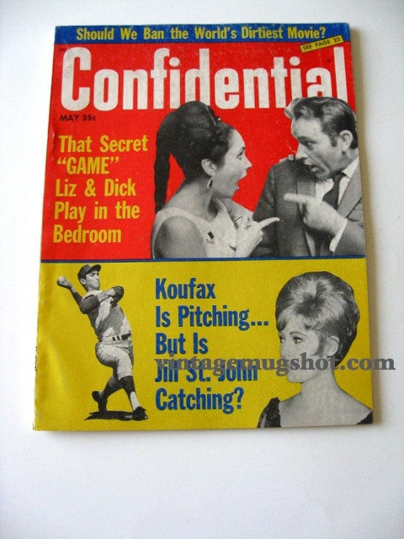 CONFIDENTIAL  Magazine May 1966  BASEBALL Sandy Koufax Moviestars