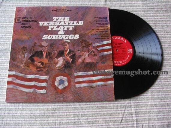 The Versatile Flatt and Scruggs LP Record  Bluegrass 360 sound Columbia Label EXC