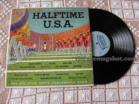 FOOTBALL  Private LP  Vinyl  Record College Mrches Halftime U.S.A. Yale Notre Dame NM-