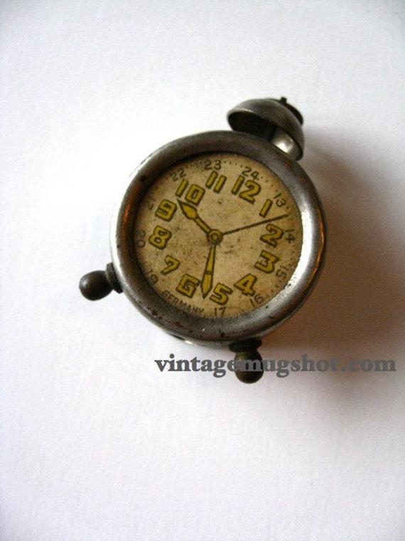 GERMAN Vintage Peencil Sharpener Pre War Clock shaape with Bell
