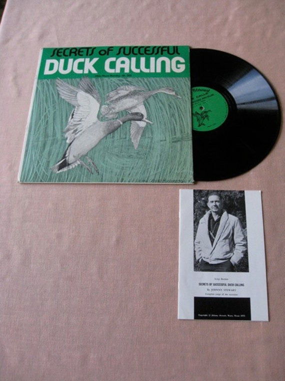DUCK CALLING Vintage vinyl  record Album Private Labelsixties Johnny Stewart Secrets....