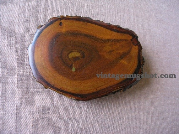 Beautiful Vintage Wooden Belt Buckle Apricot 3 1/2 inches Exc Unused