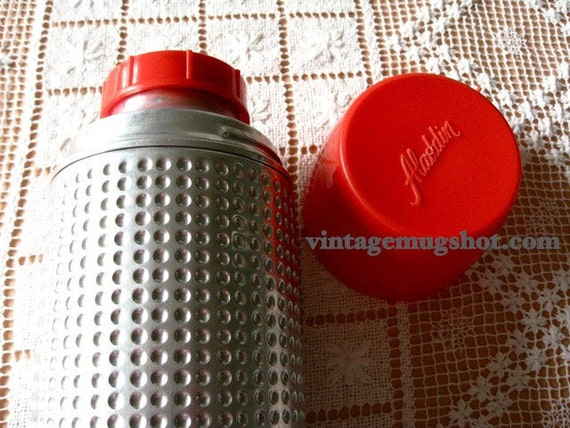 Beautiful Large Thermos with Dimples Space Age Aladdin Thermo King 12 1/2 Exc