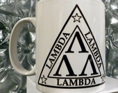 Nerds Tri Lambda Omega Mu Omega Moo Mug