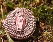 Pink Zipper Pin Brooch