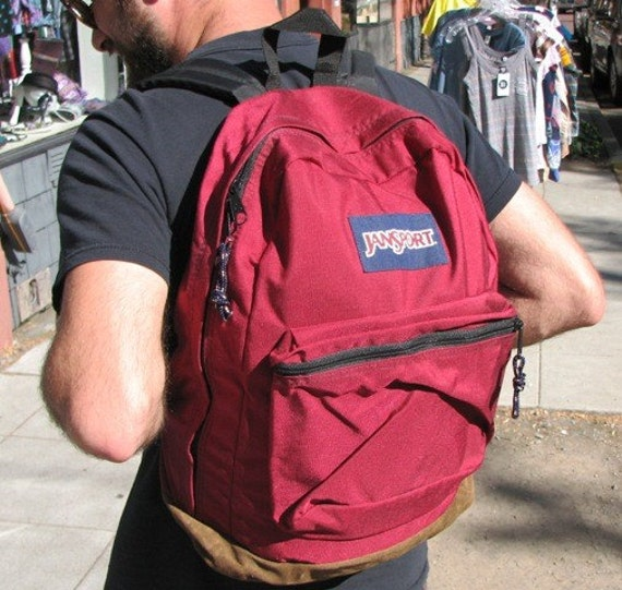 80s Maroon JANSPORT Backpack
