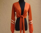 Vintage Burnt Orange Bell Sleeved Cropped Jacket, BeastlyLettuce Vintage