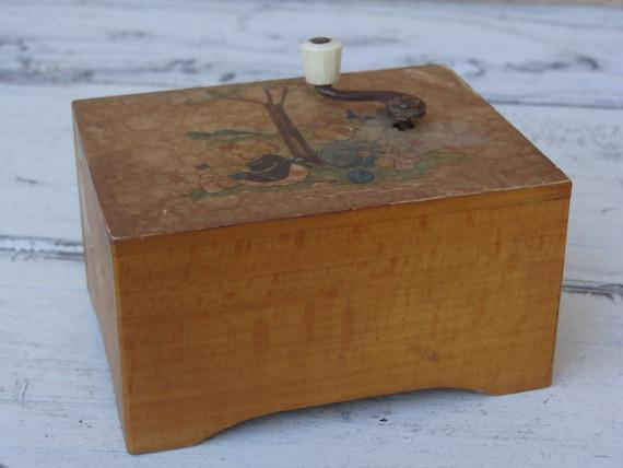 Vintage German Music Box with Hand Crank, BeastlyLettuce Vintage