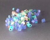 120 pieces of soft glass glow murrini