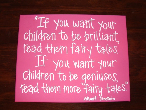 Adorable, Hand painted canvas with fairy tales quote (can custom with your colors and quote)