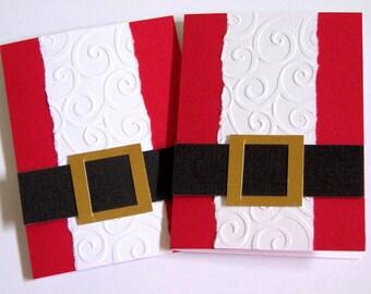 Santa Gift Card Holder Set of 4