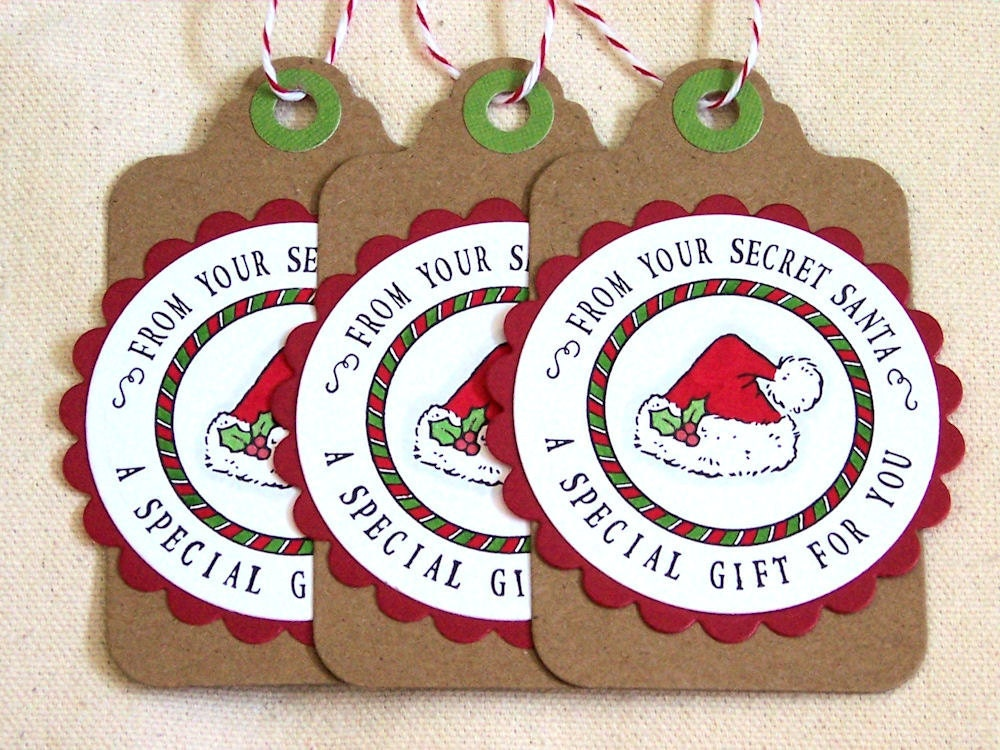 It's just an image of Old Fashioned Secret Santa Tags Printable