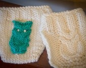 KNITTING PATTERN for Owl Diaper Cover-2 styles/patterns in sizes newborn-18 months