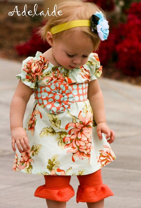 She's a Peach (2) Piece set... LAST ONE with leggings, size 4T... Adelaide Original