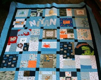 Memory Quilt made from baby clothes - Deposit