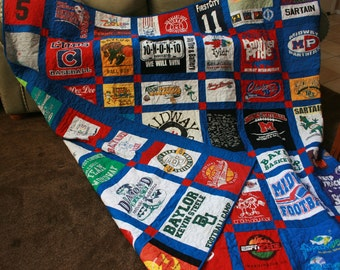 Custom Double Sided Tshirt Quilt with free shipping (Deposit)