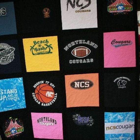 Tshirt Quilt - 16 shirts