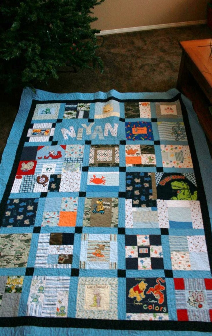 Memory Quilt made from baby clothes Deposit