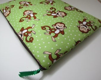 Laptop Sleeve 13 inch fits MacBook Pro-Monkey, iPad , 12.9 iPad Pro, MacBook Air 11 inch, MacBook Air 13, Hp Chromebook 11 inch, Dell XPS 13