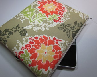 IPAD CASE iPad Case Ipad Bag iPad Cover iPad Sleeve Ipad 1 Ipad 2 zippered padded - Michael Miller Secret Garden Party