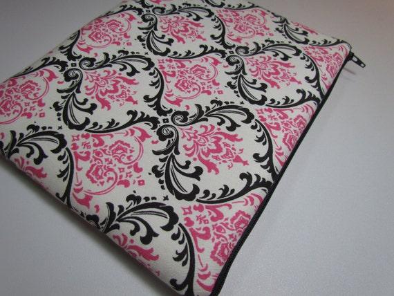 IPAD CASE iPad Case Ipad Bag iPad Cover  iPad 1 iPad 2- New iPad 3 zippered padded - Madison Black/ Candy