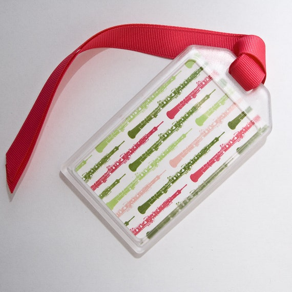 Oboe - Instrument Case ID Luggage Tag for musicians