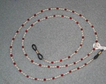 White and Red Eyeglass Holder,Eyeglass Holder,Eye Glass Holders,Glasses Holder,Eyewear Holder,Jewelry for Glasses,Holders for Glasses