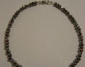Silver Crystal Ankle Bracelet - Anklet, ankle bracelet, leg jewelry, ankle jewelry