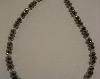 Silver and Clear Swarovski Crystal Ankle Bracelet - Anklet, ankle jewelry, leg jewelry