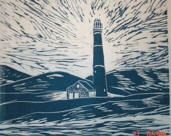 Lighthouse white navy