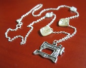 Sterling Silver - Sewing Machine Necklace