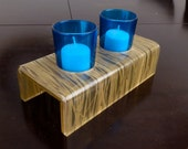 Reclaimed candle holder Blue Votive glass