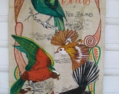 Birds of New Zealand Vintage Wall Hanging (Sale)